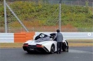В Японии успели разбить редчайший гиперкар McLaren Speedtail