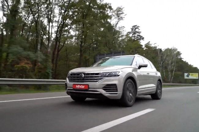 Volkswagen Touareg поведение на дороге