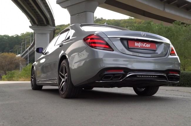 Mercedes S-Class W222 вид сзади