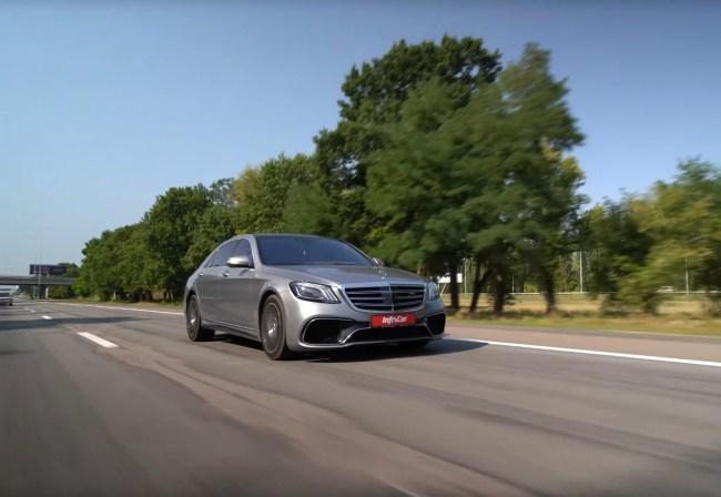 Mercedes S-Class W222 поведение на дороге