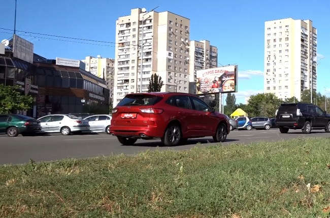 Ford Kuga езда в городе