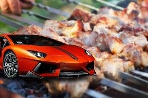 Шашлык вывел из строя V12 Lamborghini Aventador (видео)